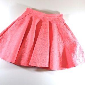 Topshop Pink Circle Mini Skirt with Pockets (4)